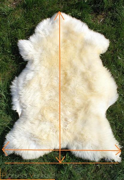 öko Lammfell echtes Schaffell Naturfell Teppich Deko Dachs-Muster 120-130cm